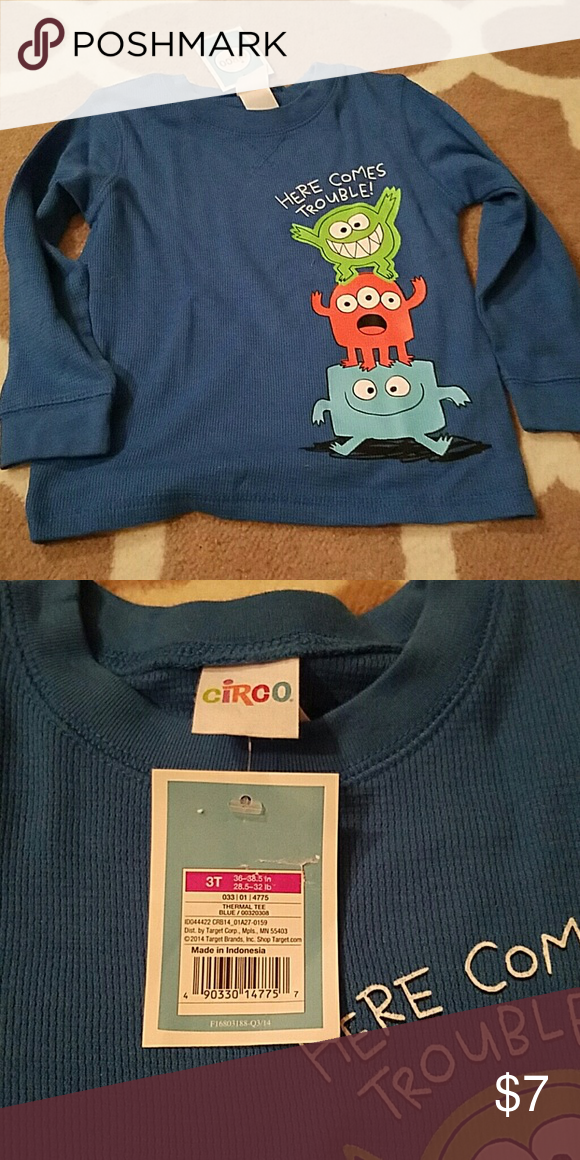 847210c4d Boys fun monster shirt New with tags Circo Shirts & Tops Tees - Long Sleeve