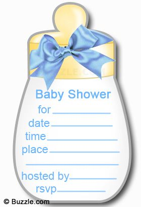 A Cute Baby Shower Invitation That You Can Make At Home.
