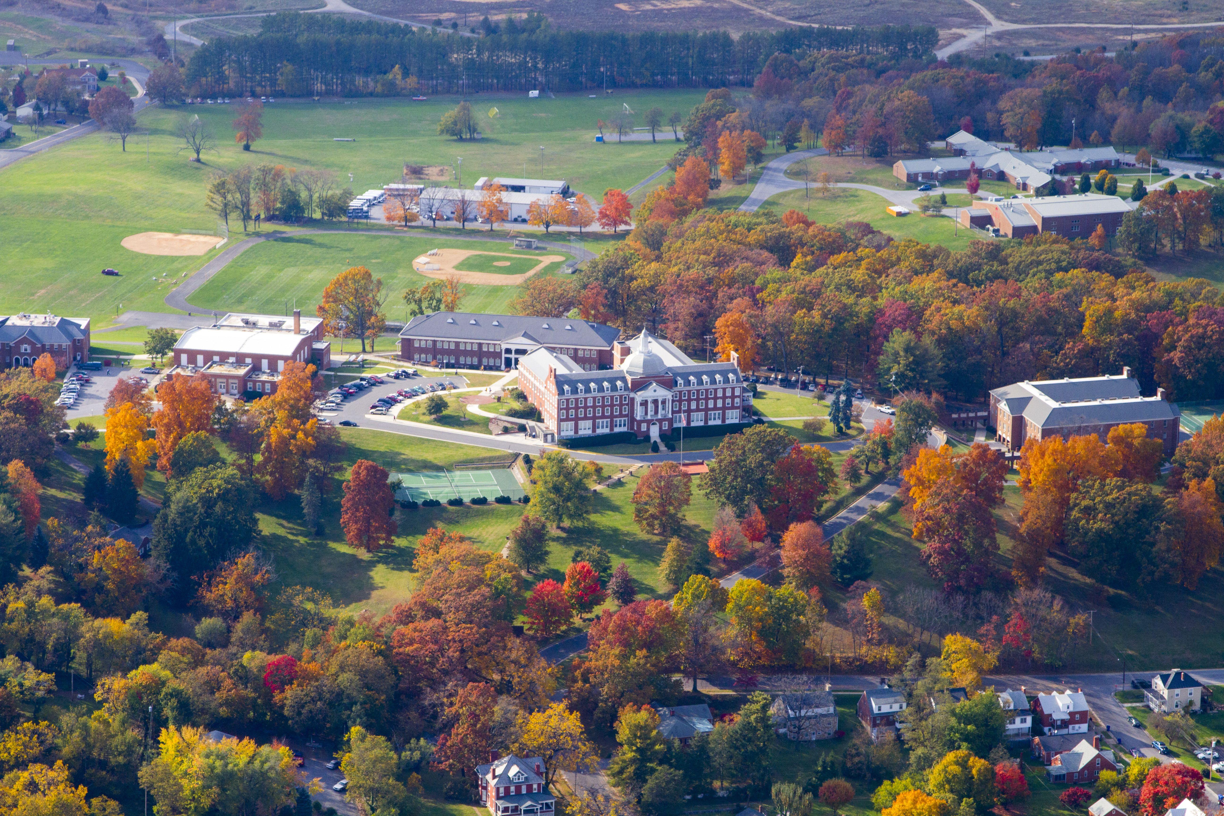 A fantastic aerial shot of rmas sprawling campus located