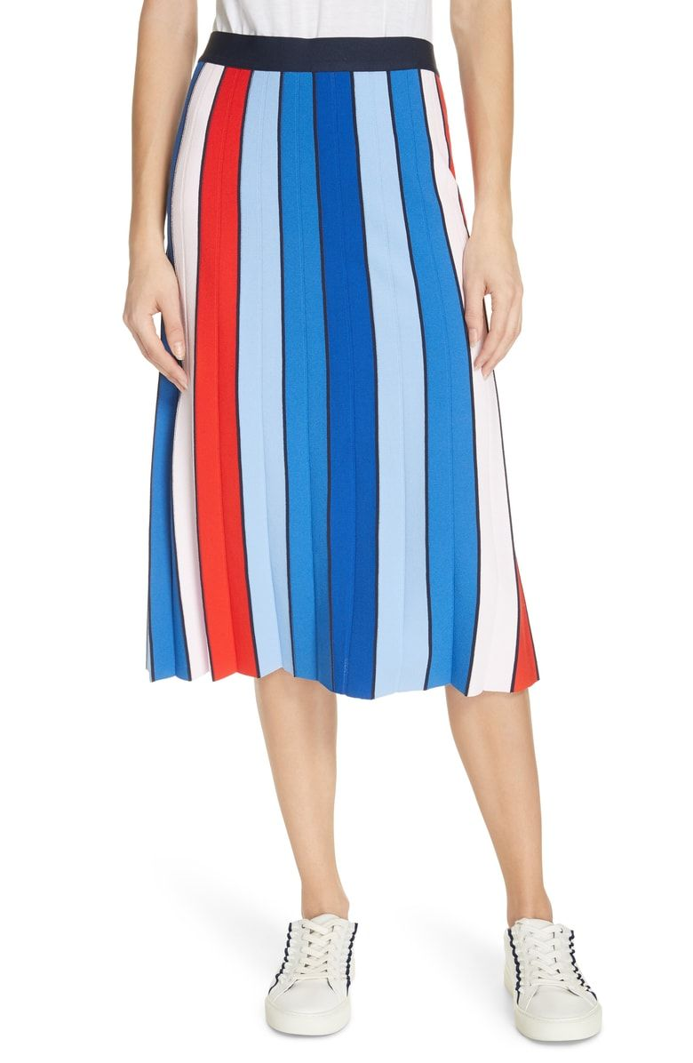 4cc033f19864f Free shipping and returns on Tory Sport Stripe Tech Knit Skirt at ...