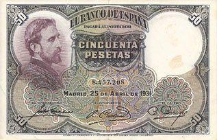 Rafael Castillejo-Billetes antiguos de pesetas-Banco de España-Billetes divisionarios de España-pesetas republicanas. 122X78