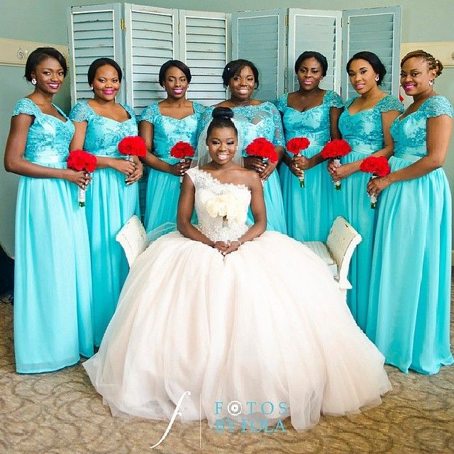 Wedding Blue Bridesmaid Dresses
