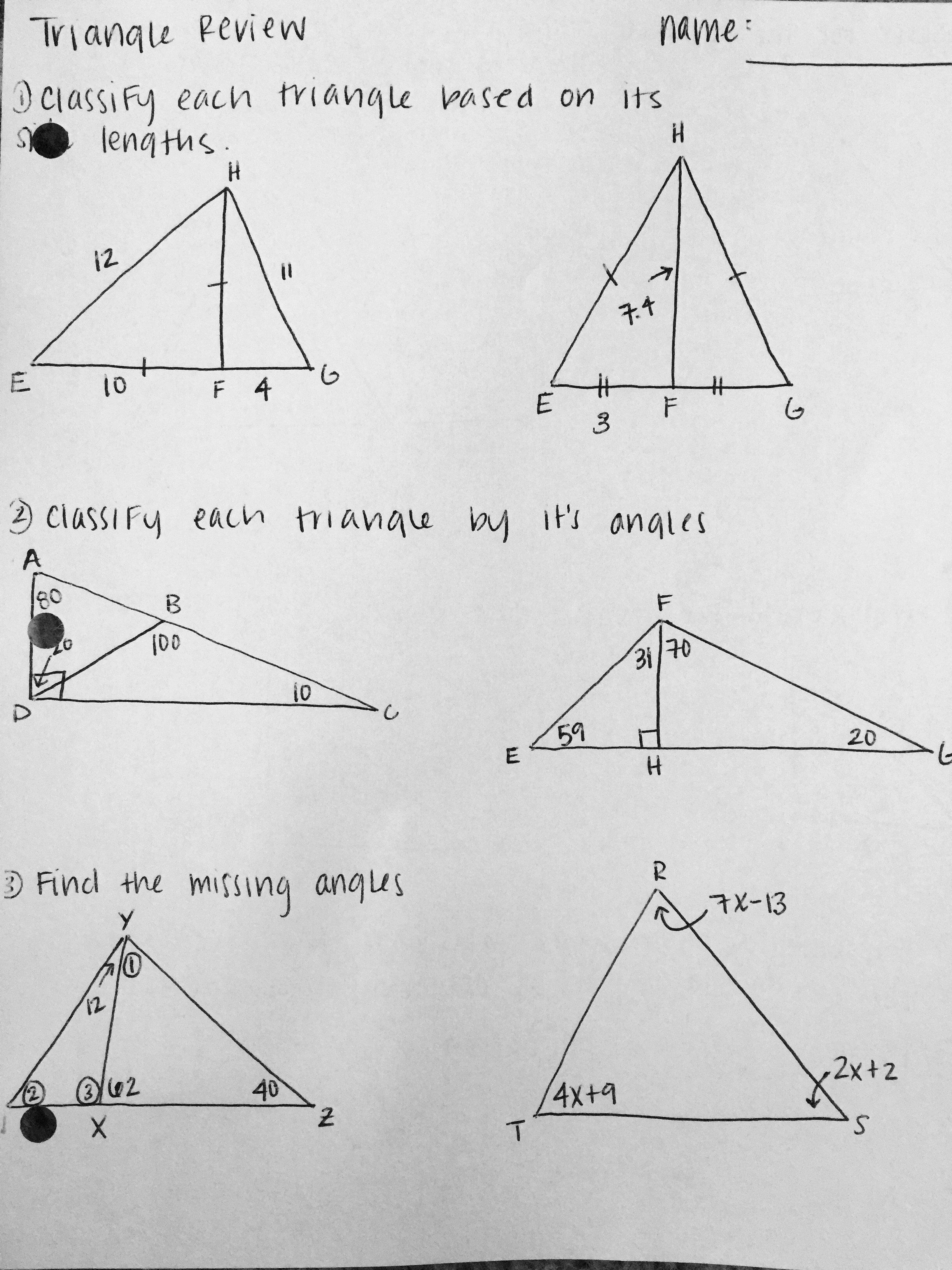 50 Congruent Triangles Worksheet with Answer in 2020