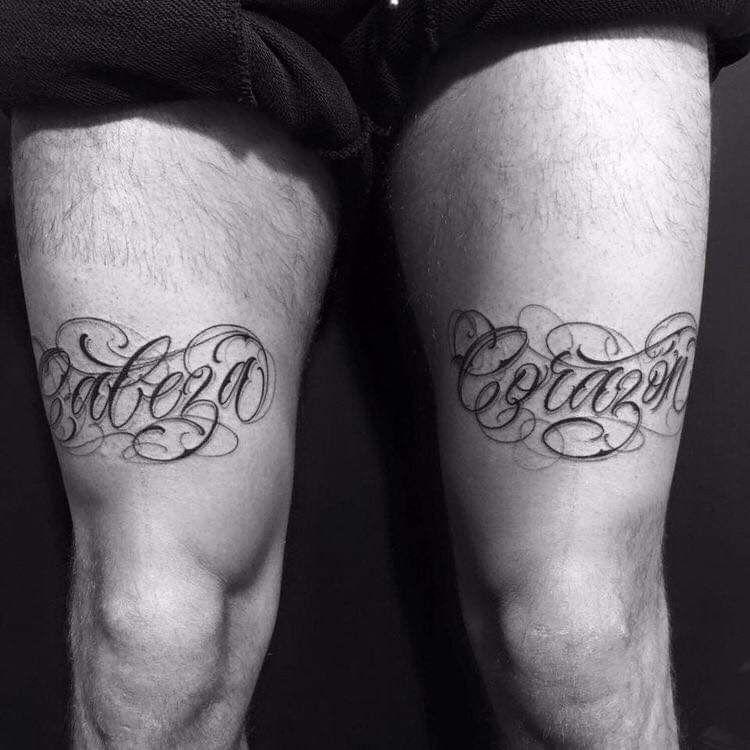Tatuajes hombres letras
