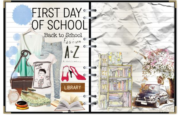 """First day of school"" by blue-holic ❤ liked on Polyvore"