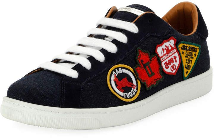 8c7b44a4c7 DSQUARED2 Men s Low-Top Sneakers with Patches