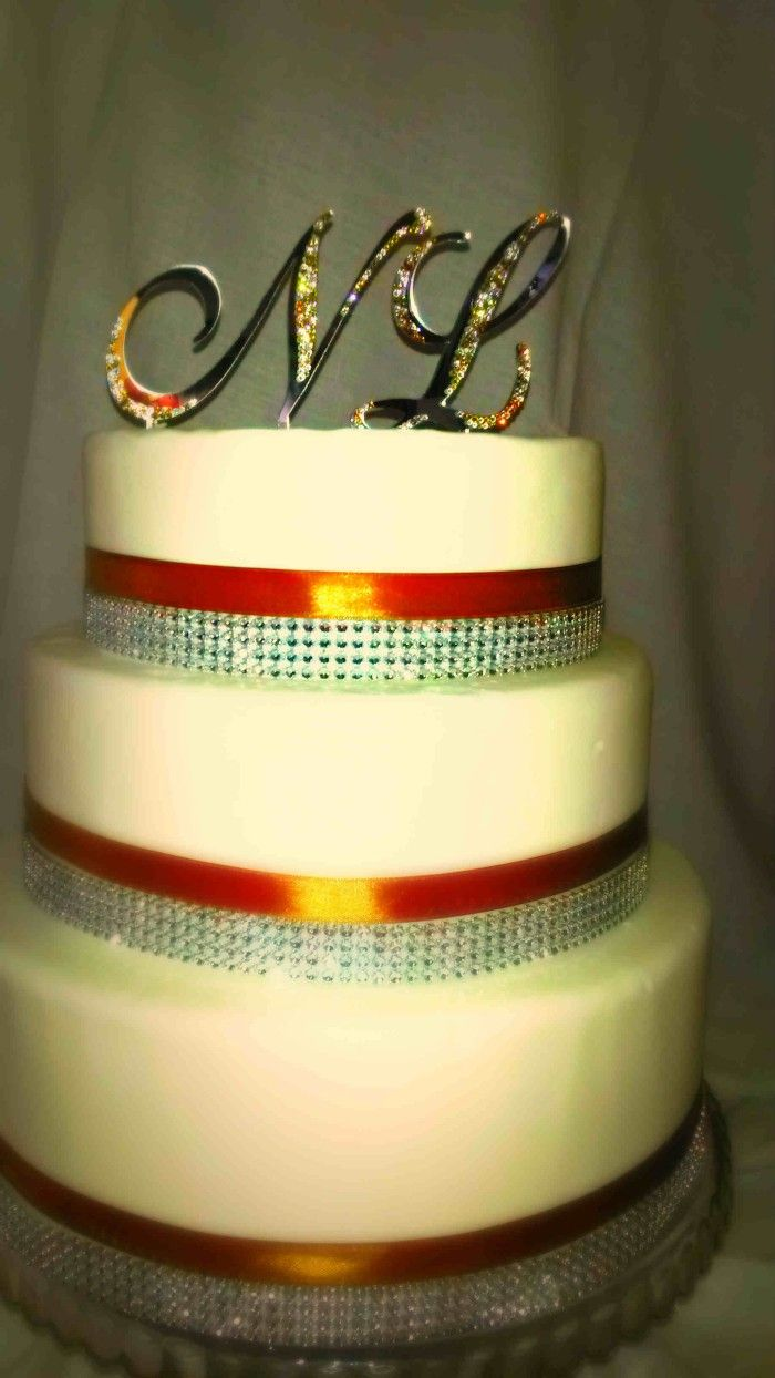 Crystall Swarovski Cake Topper N & L - Swarovski Monogram esküvői ...