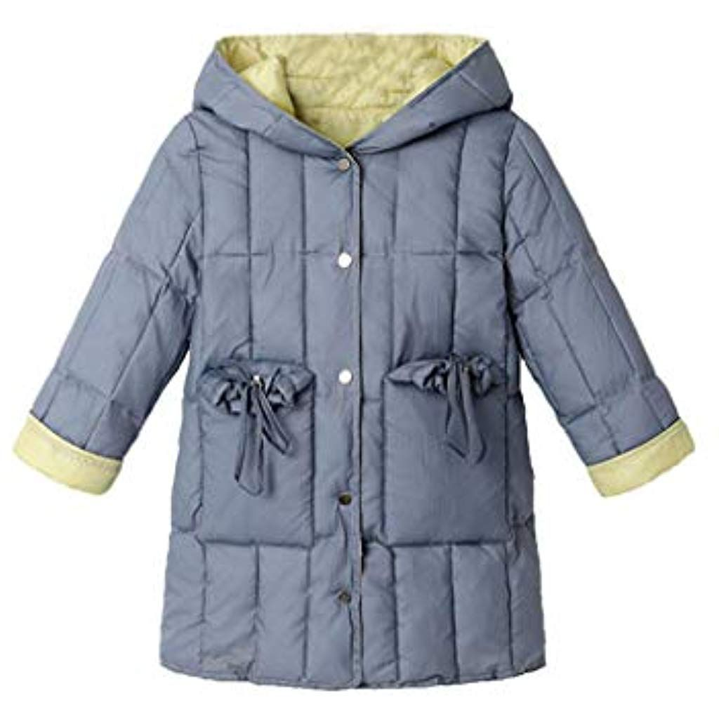 Phorecys Kids Girls Wool Double-Breasted Jacket Lapel Dress Coats
