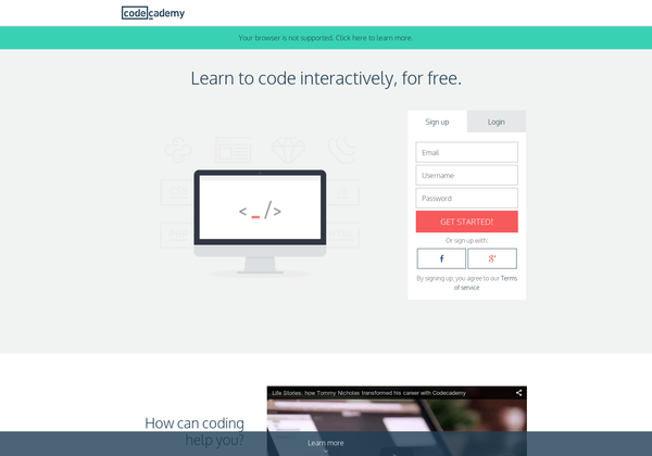 learn to code interactively for free