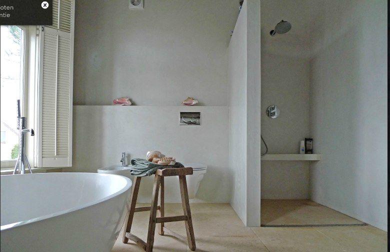 Beton cire - douche en bad   Pinterest - Badkamer, Badkamers en Kleur