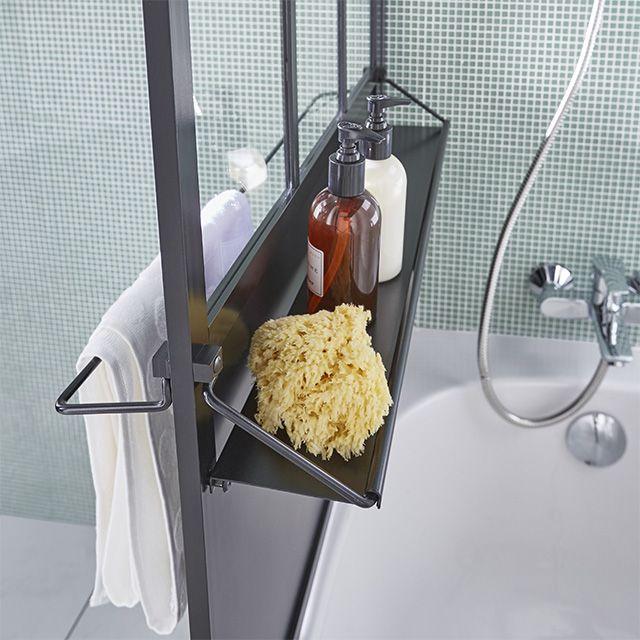 Pare Baignoire Loft 1 Volet Noir Castorama Paroi Baignoire Idee Salle De Bain Deco Salle De Bain Toilette