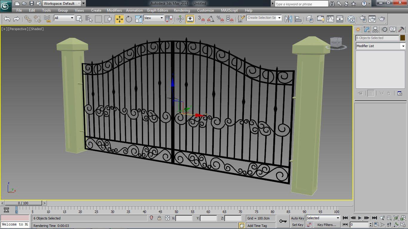 Tutorial Autodesk 3ds Max Iron Gate Modeling Goruntuler Ile