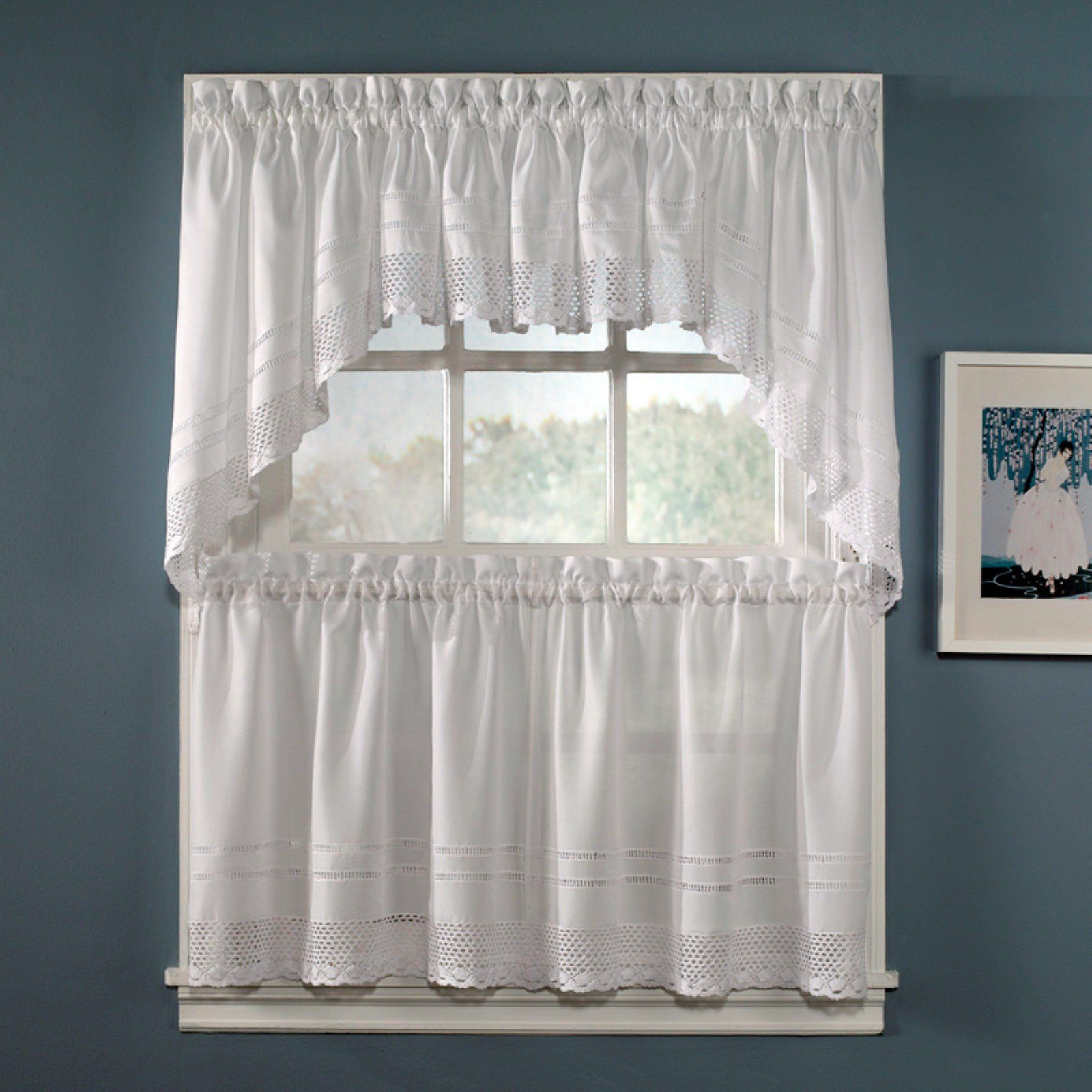 Chf Industries Crochet Valance In 2020 Tier Curtains Window Swags Simple Curtains