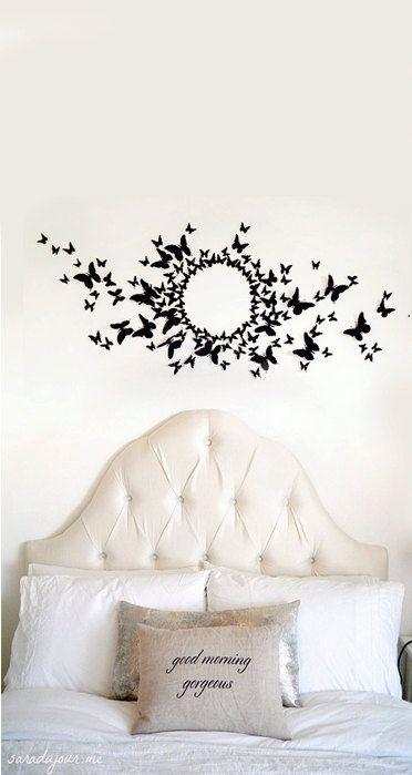 90 3d Butterfly Wall Art Circle Burst 3d Butterfly Wall Art