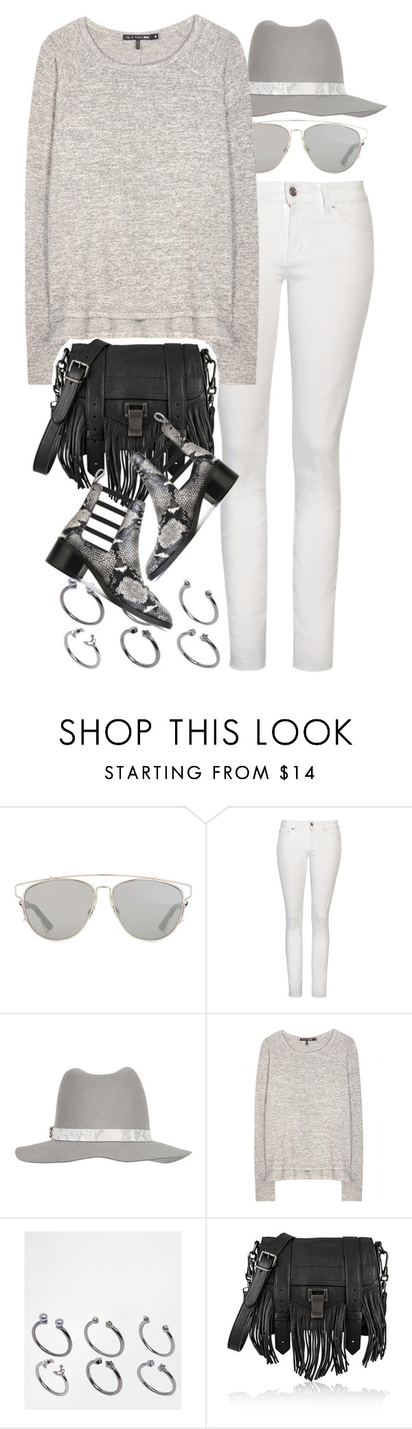 """""""Untitled #8613"""" by nikka-phillips ❤ liked on Polyvore featuring Christian Dior, Yves Saint Laurent, rag & bone, ASOS, Proenza Schouler and Each X Other"""