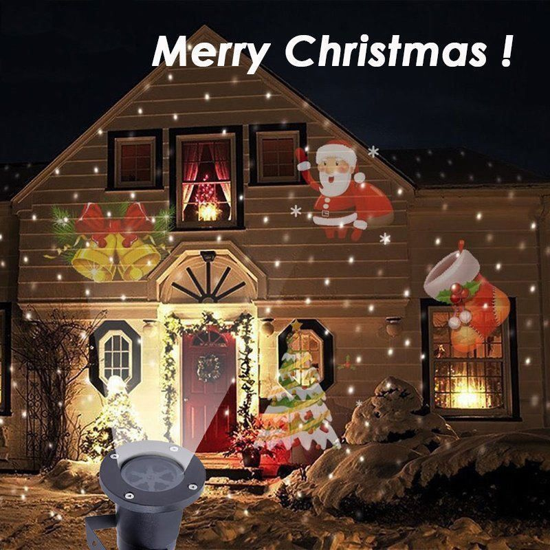 Christmas LED Light Projector Outdoor Projection Props 15 Patterns +