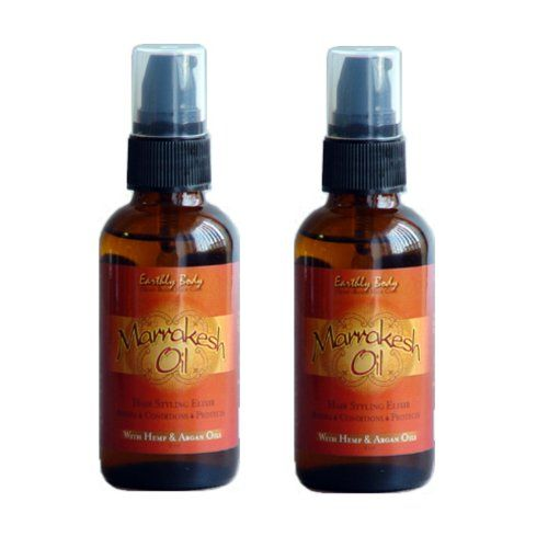 Earthly Body Marrakesh Oil Hair Styling Elixir With Hemp Argan Oils Hair And Scalp Treatments Oil 2 Oz Set Of 2 Argan Oil Hair Hair Oil Oils