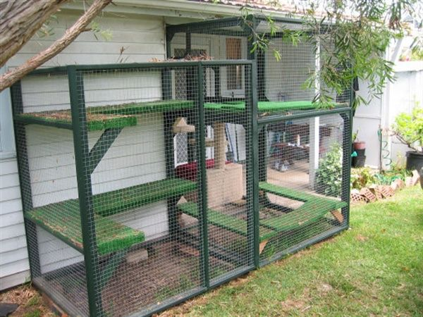Green Colored Cage Pet House For Cats Animals Cat