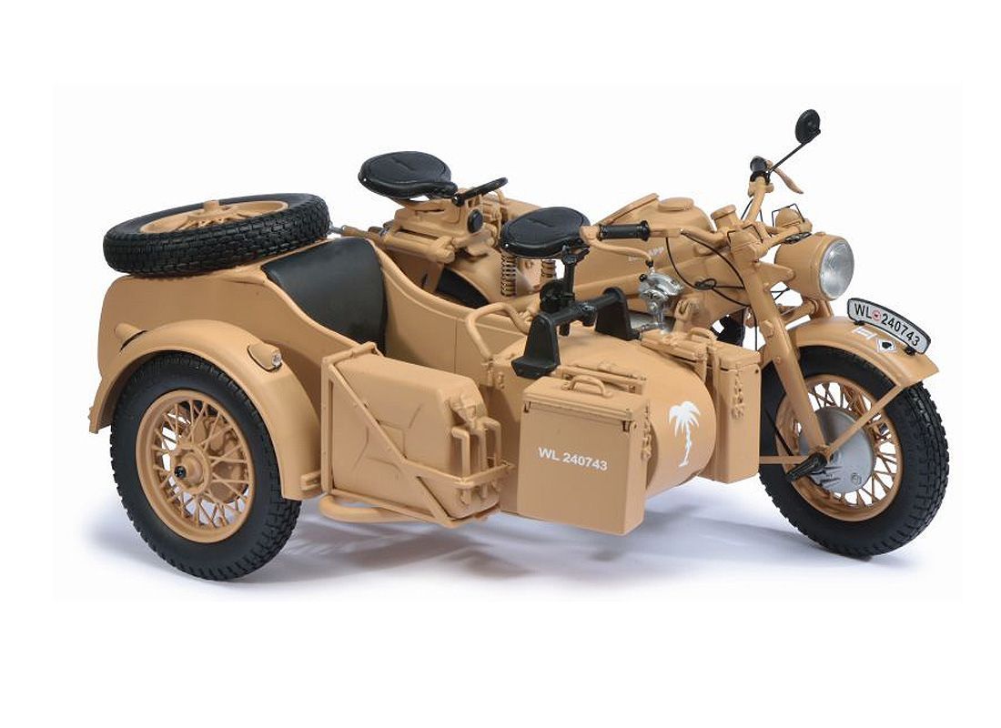 Schuco 1 10 Zundapp Ks Diecast Model Motorcycle 06614 This Zundapp Ks 750 Diecast Model Motorcycle Is Matt Beige And Features Working Steering Wheels It Is Ma