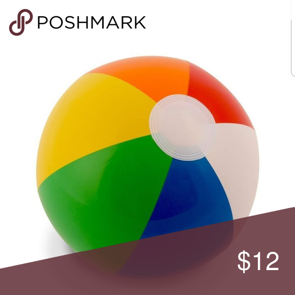 12 Rainbow Beach Balls 12 Pack Whether Your Planning Trips To The Beach Or You Love To Play In The Swimming Pool Kan Rainbow Beach Beach Ball Plastic Beach