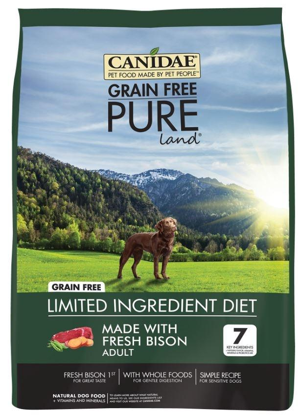 Canidae Grain Free Pure Bison Lentil Carrot Recipe Dry Dog Food