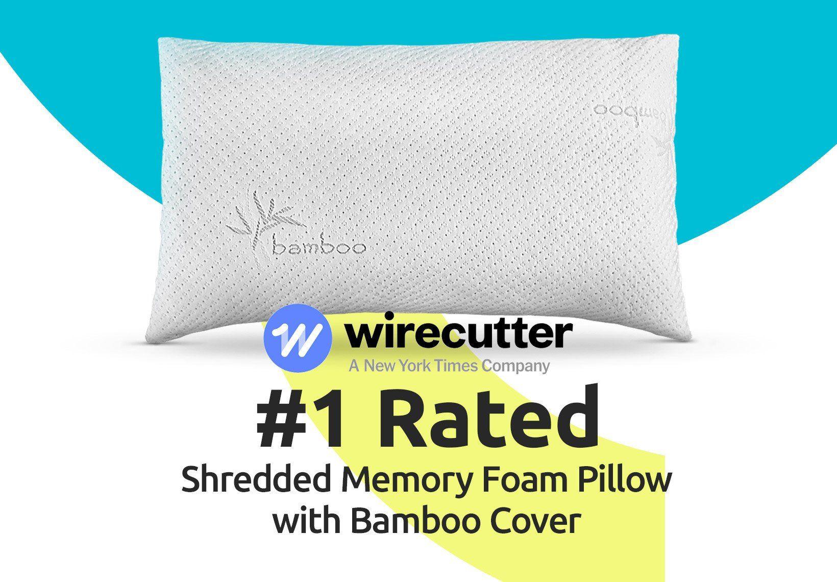 Memory Foam Pillow Made Bamboo Cover