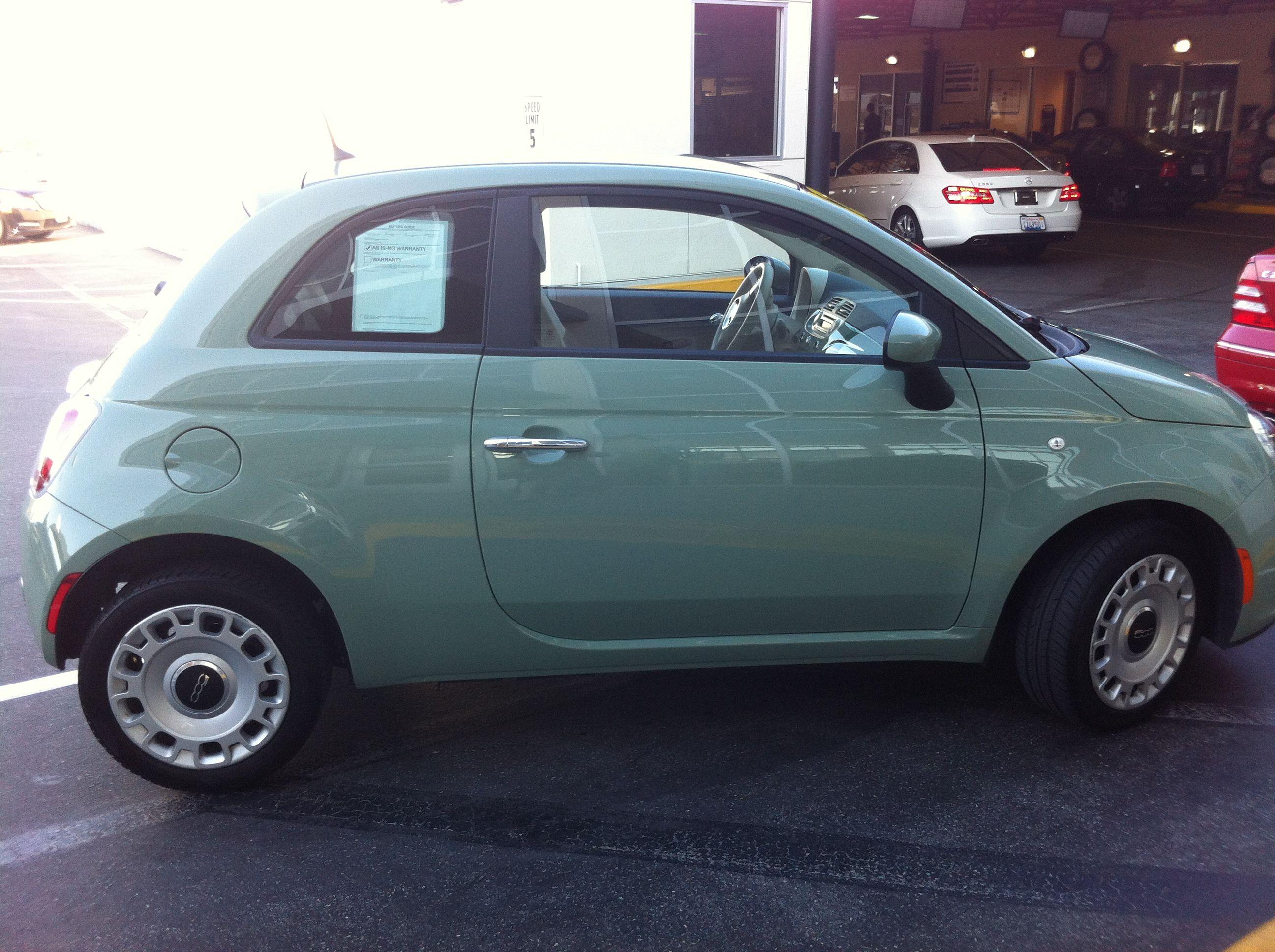 Sage Green Fiat500 Fiat 500 Fiat Suv Car