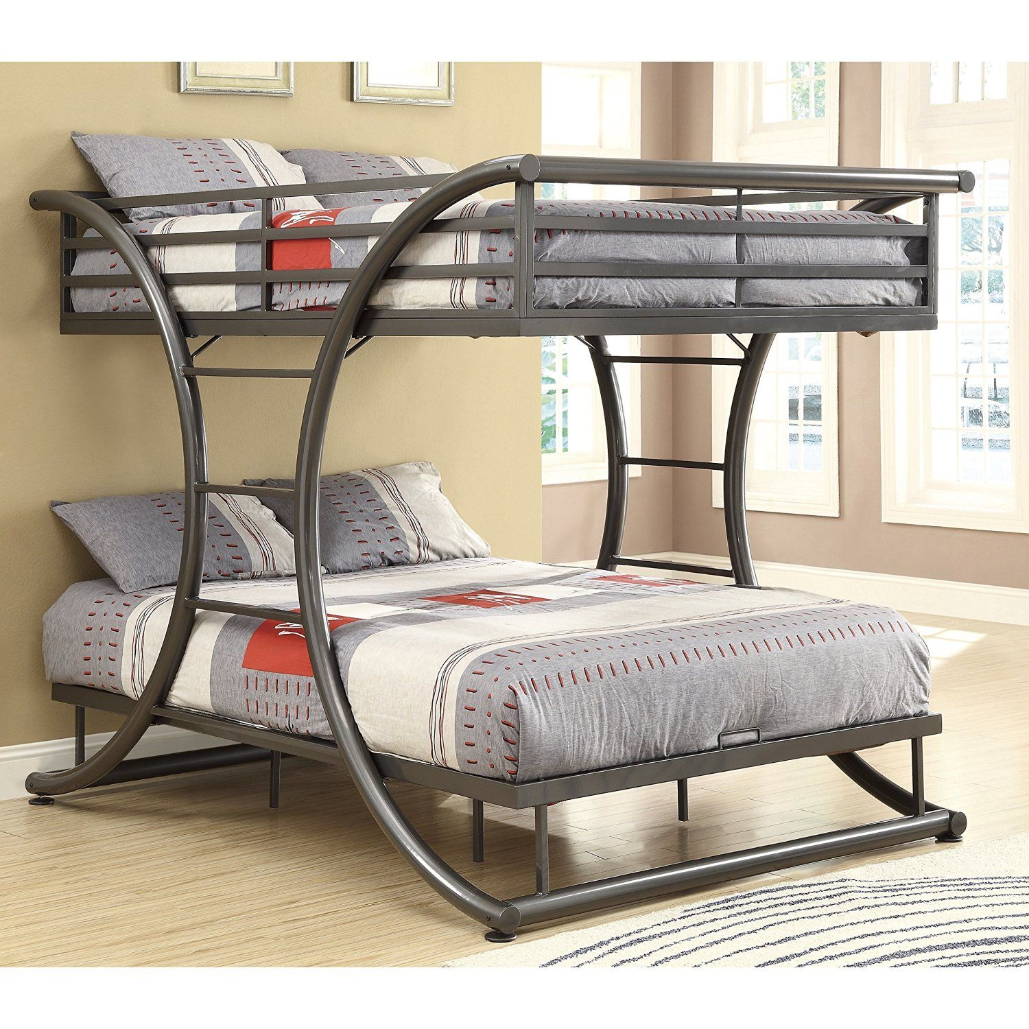 Amazon.com: Coaster Home Furnishings 460078 Bunk Bed, Gunmetal ...
