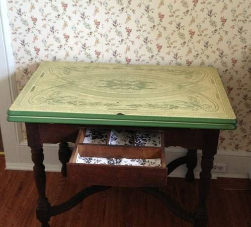 Rare Signed Montanari Enamel Top Table With By Timequaketreasures 520 00 Vintage Kitchen Table Table Top Kitchen Table