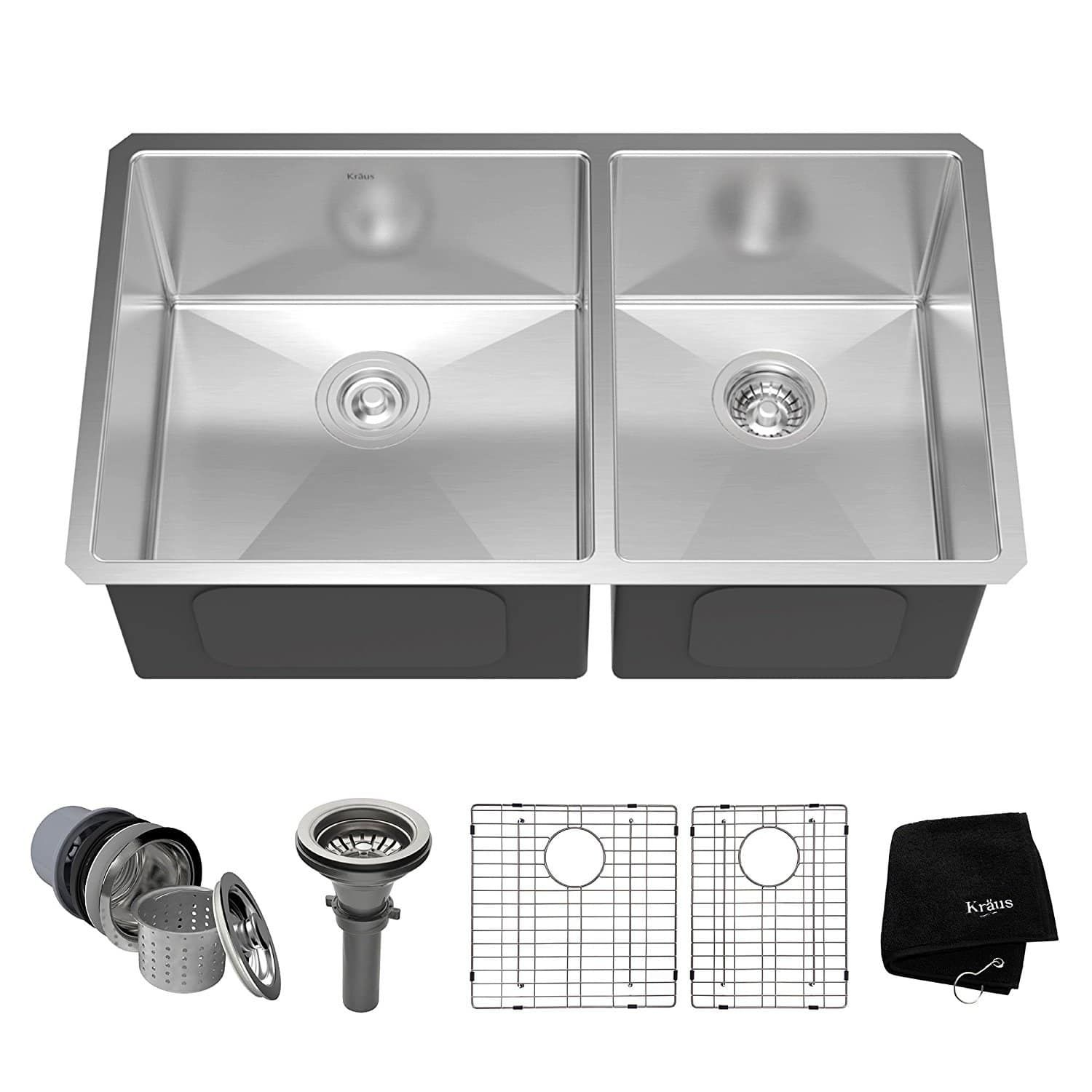 16 Gauge Regency Two Compartment Stainless Steel Commercial Sink With 2 Drainboards 72 Outdoor Kitchen Appliances Kitchen Sink Design Outdoor Kitchen Design