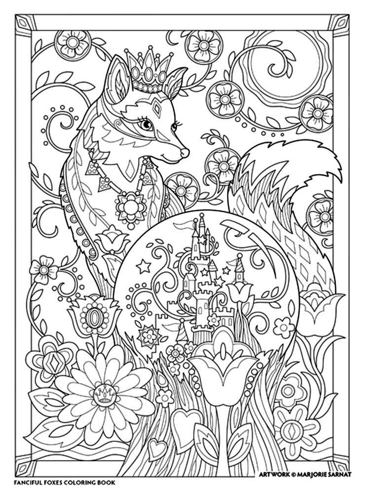 Marjorie Sarnat - Fanciful Foxes | Coloring for mummy :) | Pinterest ...