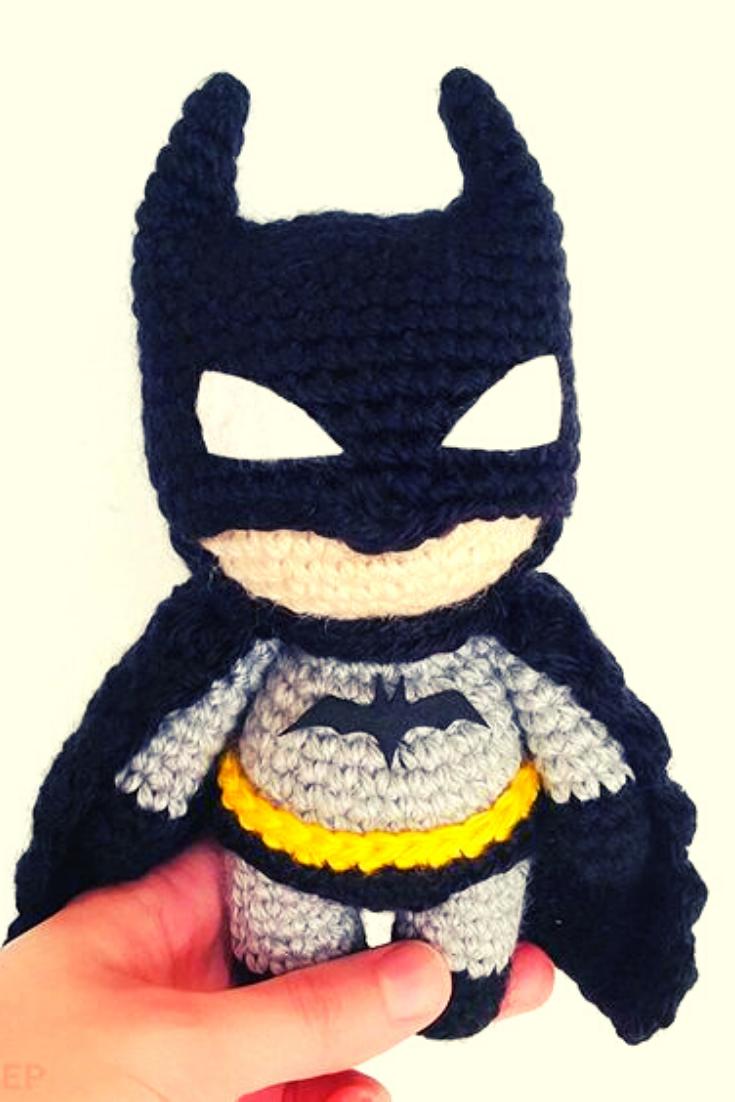 Batman de crochê passo a passo: Amigurumi com receita em 2020 (com ... | 1102x735
