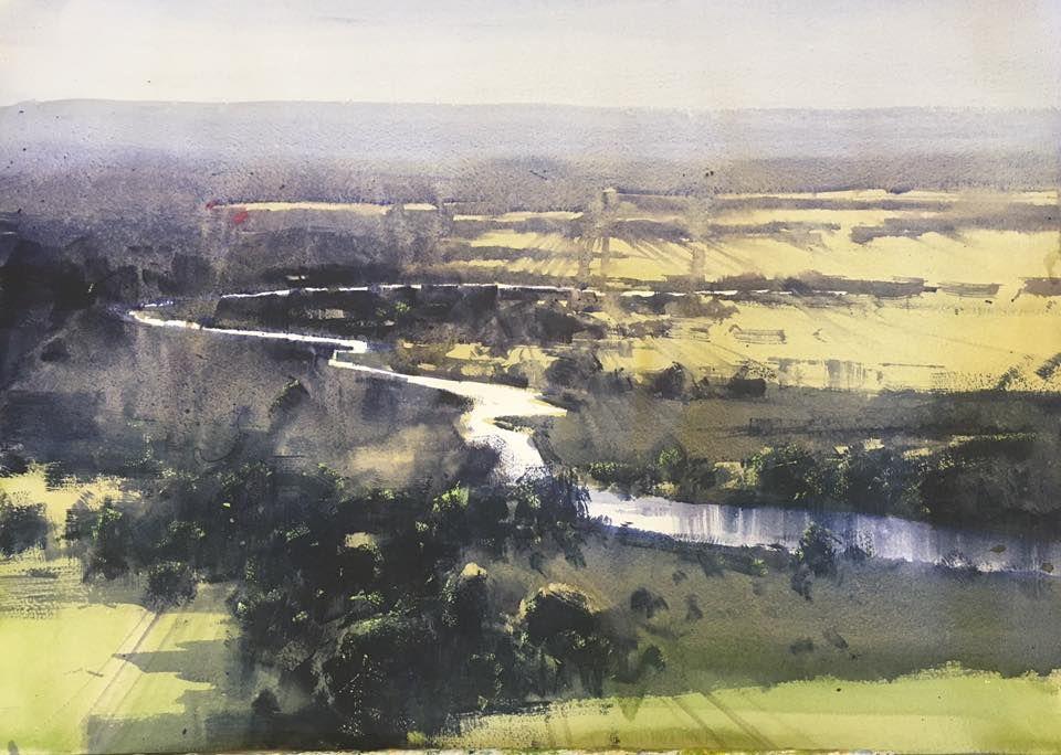 Herman Pekel Watercolor Landscape Paintings Watercolor