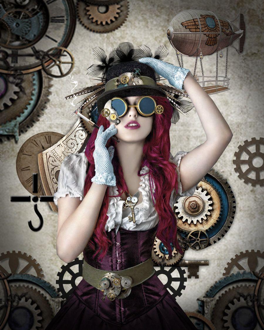 Female mad hatter steampunk image du jour steampunk princess 3 fantasy pinterest - Maquillage chapelier fou ...
