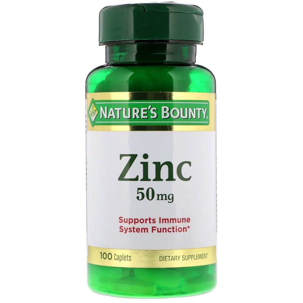 Natures Bounty Zinc 50 Mg 100 Caplets