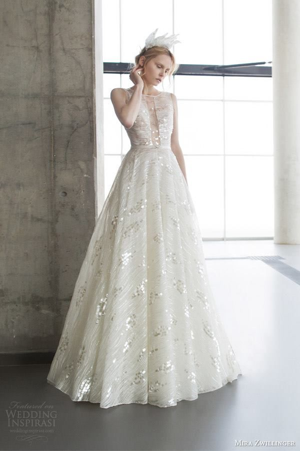 Mira Zwillinger Wedding Dress 2016 Bridal CollectionPhoto: Alexander Lipkin