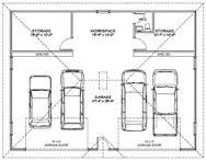3 Car Tandem Garage Dimensions Google Search Garage Plans Garage Dimensions Car Garage