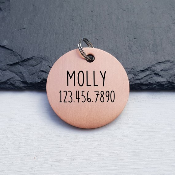 Custom Pet Id Tag Dog Tag Funny Sayings Cute Quote Round