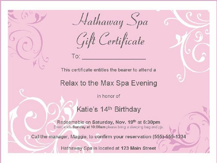 Birthday Invitation Wording Surprise Party Invitation Ideas Spa