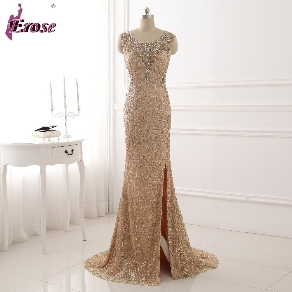 Click to buy ucuc aline sleeveless evening dress with beading and