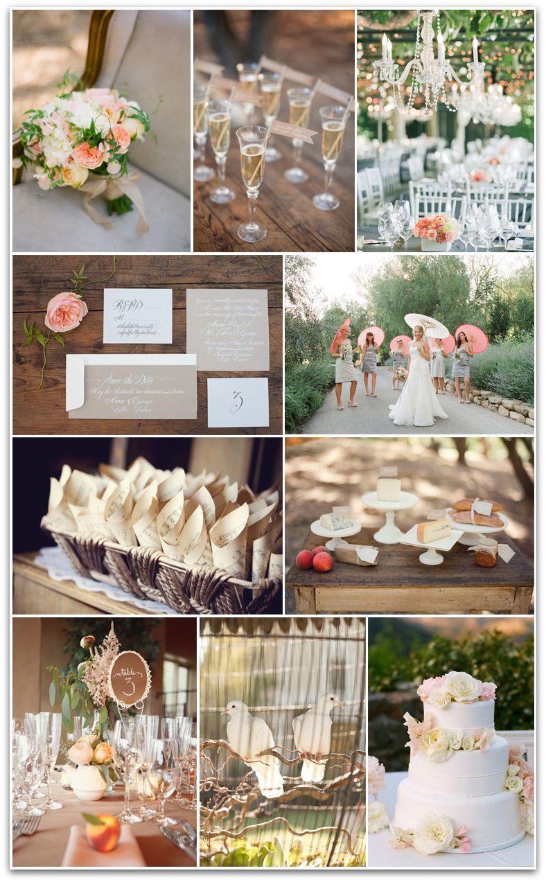 Blush Bashful Peaches Cream Wedding Vision Board Created By Liesl Ehardt