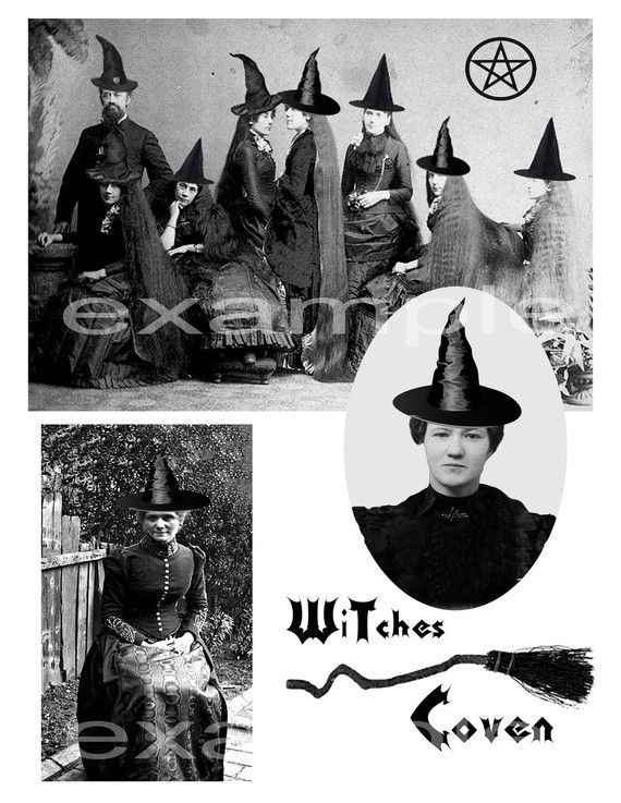 Vintage Photo Photos Witch Witches Halloween Costume