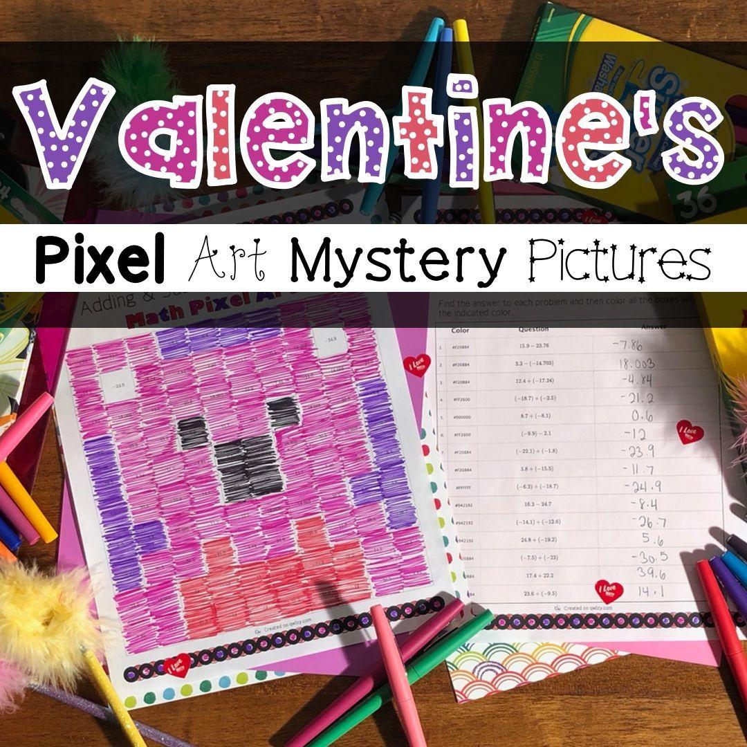 5 Fun Valentine S Day Pixel Art Activities In