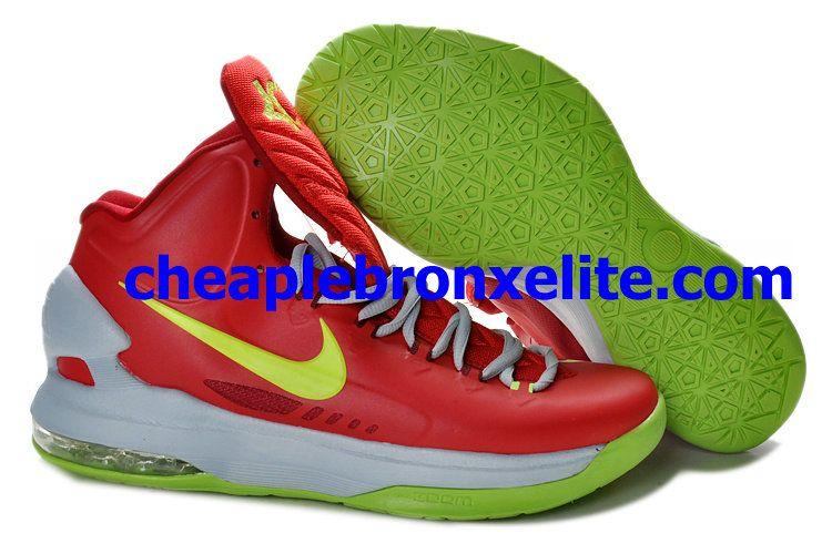 eef6bf28c27 Nike Zoom KD V Cheap Bright Crimson Volt Wolf Grey 554988-610