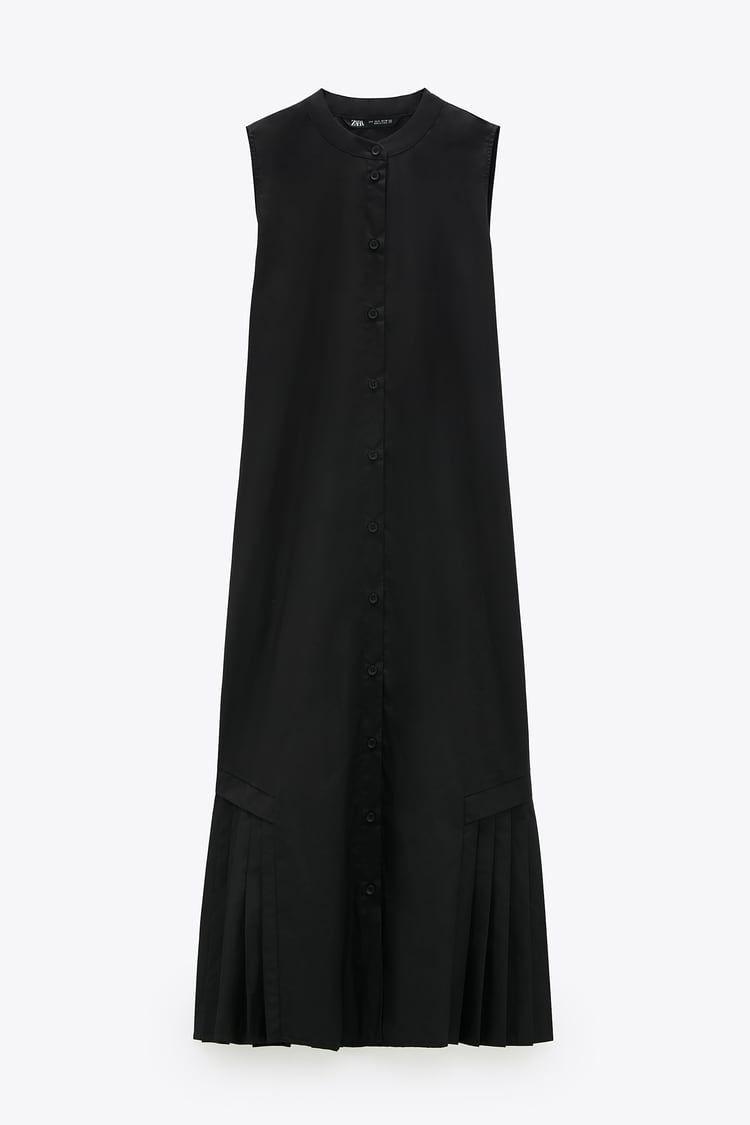 ポプリン地ミディ丈ワンピース zara japan 日本 fashion little black dress dresses