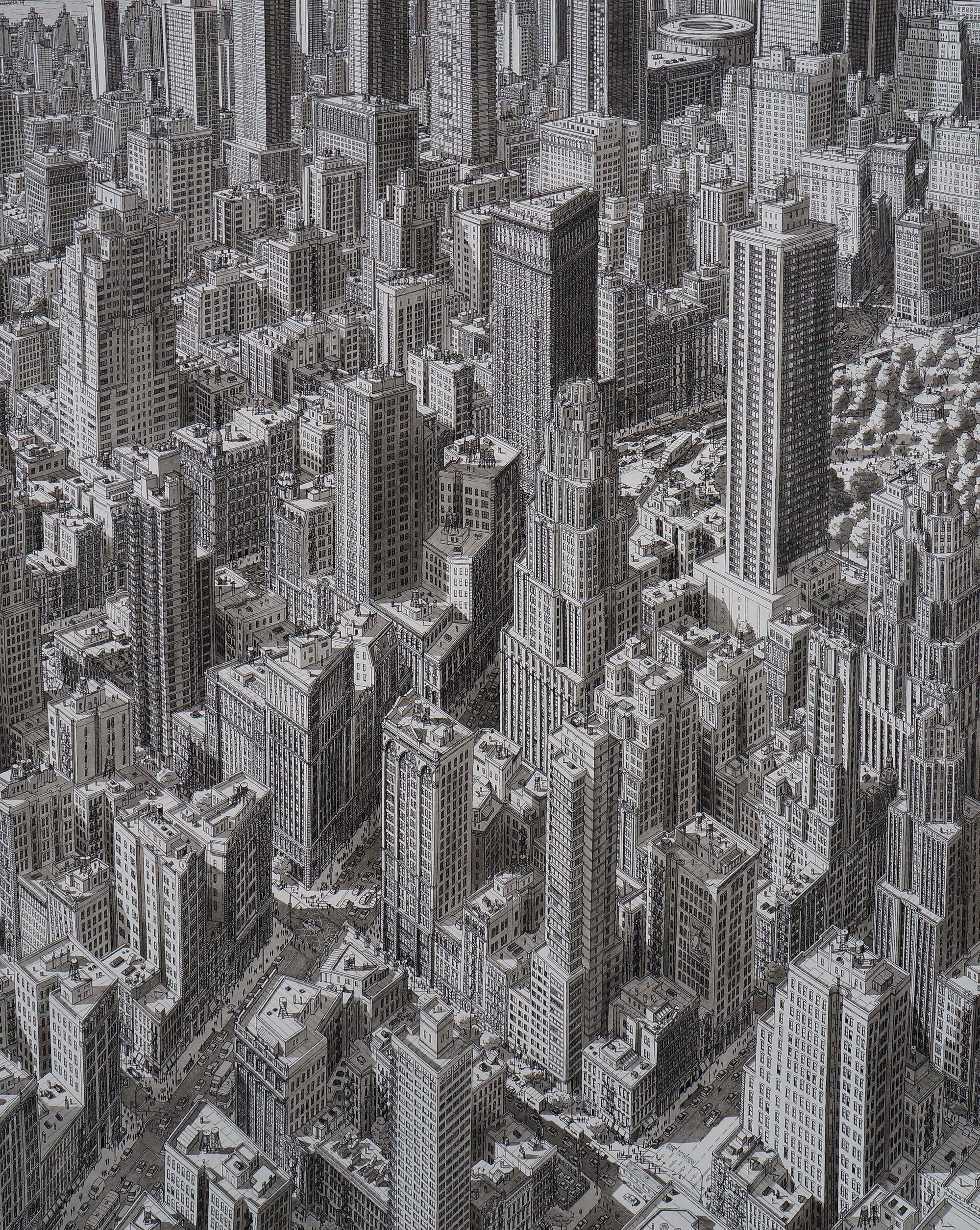 Stefan Bleekrode's Drawings Recreate Cityscapes from Memory