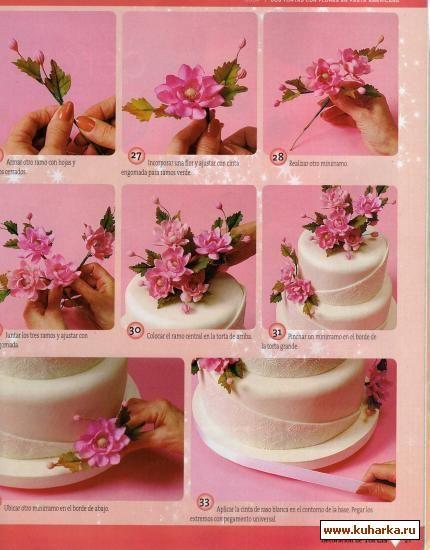 Мастер-классы украшения тортов   цветочные торты   Pinterest ... a46674559fe