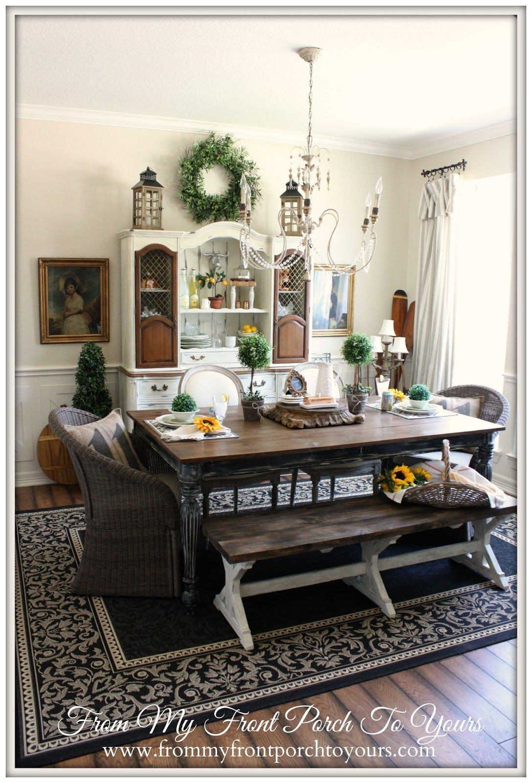 French Farmhouse Dining Room Reveal Farmhouse Style Dining Room