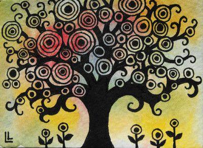 Nfac Trees Tree Song Nibblefest Original Art Card ACEO Lindi Painting EBSQ | eBay