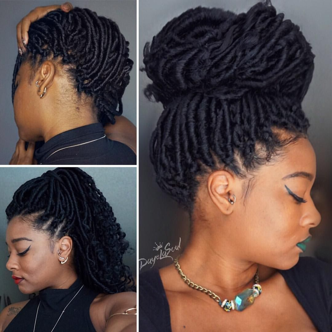 Crochet Braid Faux Goddess Locs Tutorial On Youtube Using Janet Collection Mambo Faux Locs See This Instagr Hair Styles Faux Locs Hairstyles Locs Hairstyles